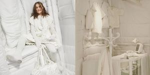 【米蘭時裝週】 MM6 Maison Margiela 一片「象牙白」的秀場和設計,連模特兒都是銀髮老人!「白色控」的心靈已被療癒!