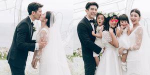 「我的幸福來得比較慢」賈靜雯對她的婚紗設計師這樣說,一件佈滿星星的禮服就這樣誕生了