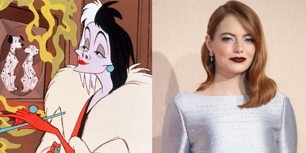 艾瑪史東不計形象演出《101忠狗》反派角色 — 迪士尼史上最壞的女人「庫伊拉」!