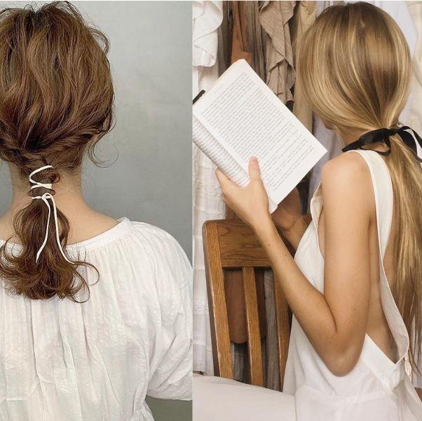 Hair, Hairstyle, Long hair, Hair coloring, Chignon, Brown hair, Shoulder, Hair accessory, Fashion accessory, Neck,