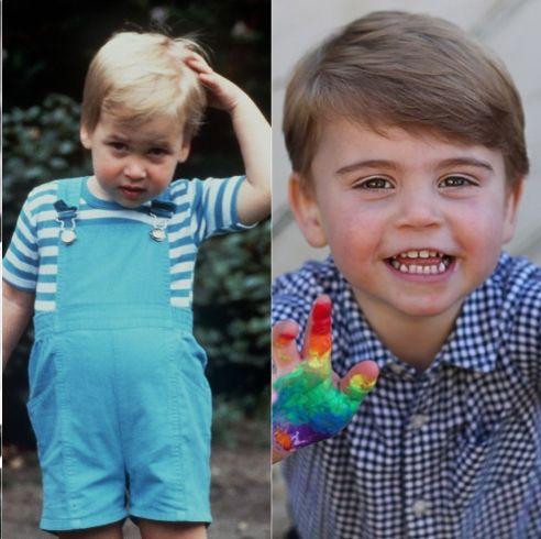 英國女王、查爾斯王子、威廉王子和路易小王子等英國皇室成員的2歲生活照