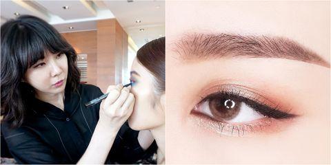 單眼皮,眉距,眼妝,泡泡眼,眼影,暈染眼線,睫毛膏,雙眼皮