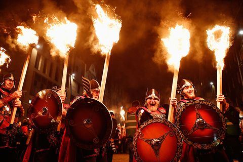 A Torchlit Procession Kicks-off Edinburgh's Hogmanay Celebrations