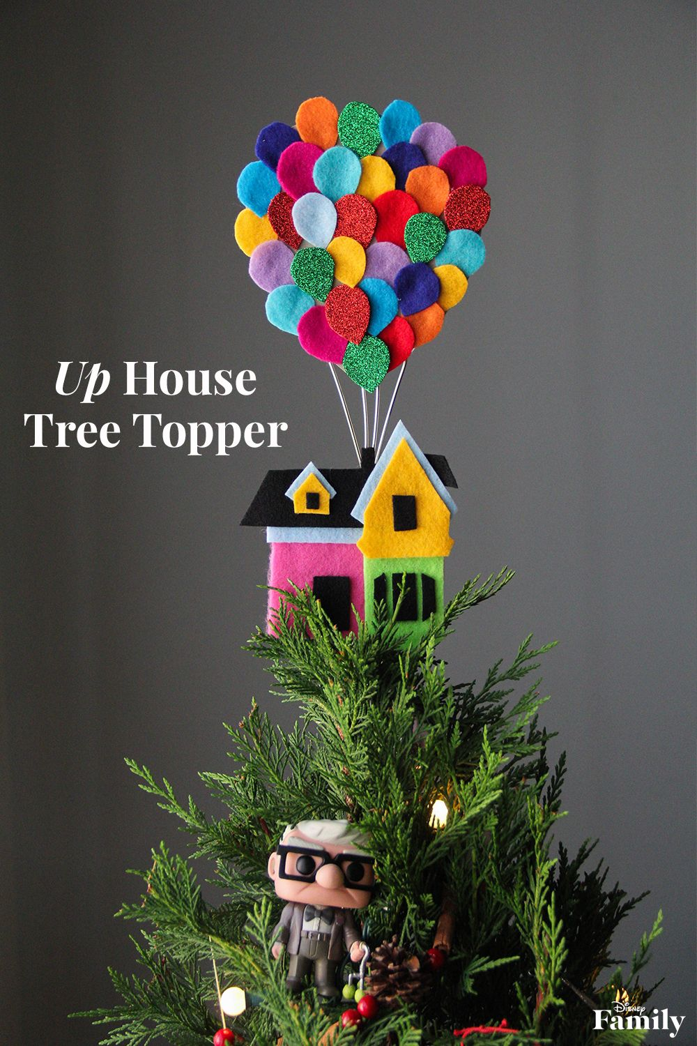 up house disney christmas tree topper