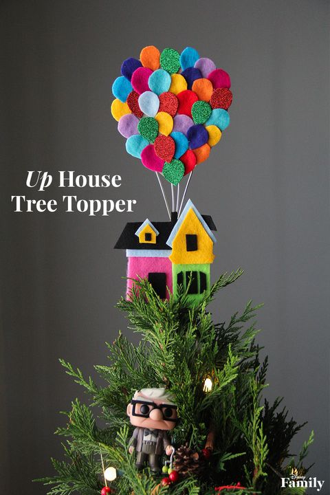 up house disney christmas tree topper - Disney Christmas Tree