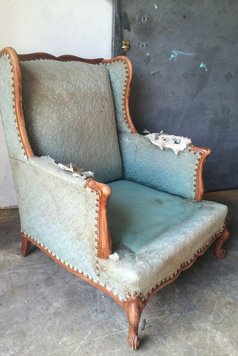 upcycled furniture armchair