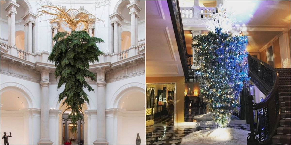Upside Down Christmas Tree Meaning - What the Flipped Christmas Trees Trend Is