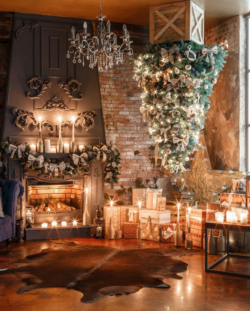 Upside Down Christmas Tree Decorating Ideas.Flipboard Upside Down Christmas Trees Are Here To Stay