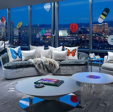 Living room, Interior design, Furniture, Room, Blue, Coffee table, Property, Table, Couch, Sky,
