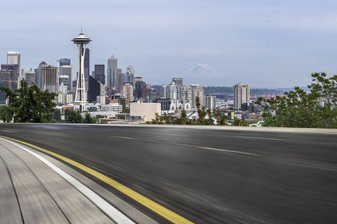 urban road,Seattle