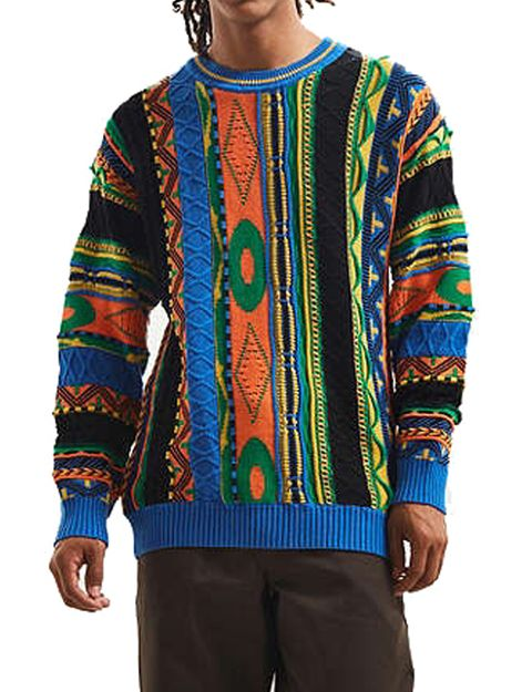 Clothing, Sleeve, Outerwear, Sweater, Wool, Turquoise, Woolen, Sweatshirt, Long-sleeved t-shirt, Neck,