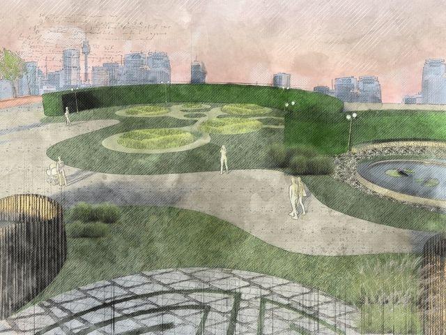scad grass mounds urban oasis