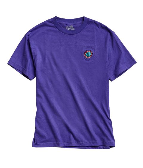 T-shirt, Active shirt, Clothing, Violet, Sleeve, Purple, Blue, Sportswear, Electric blue, Magenta,