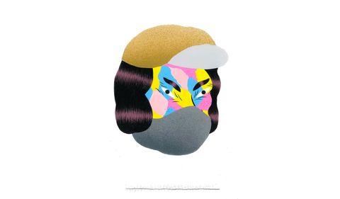 Head, Illustration, Headgear, Ball, Graphic design, Graphics, Art,