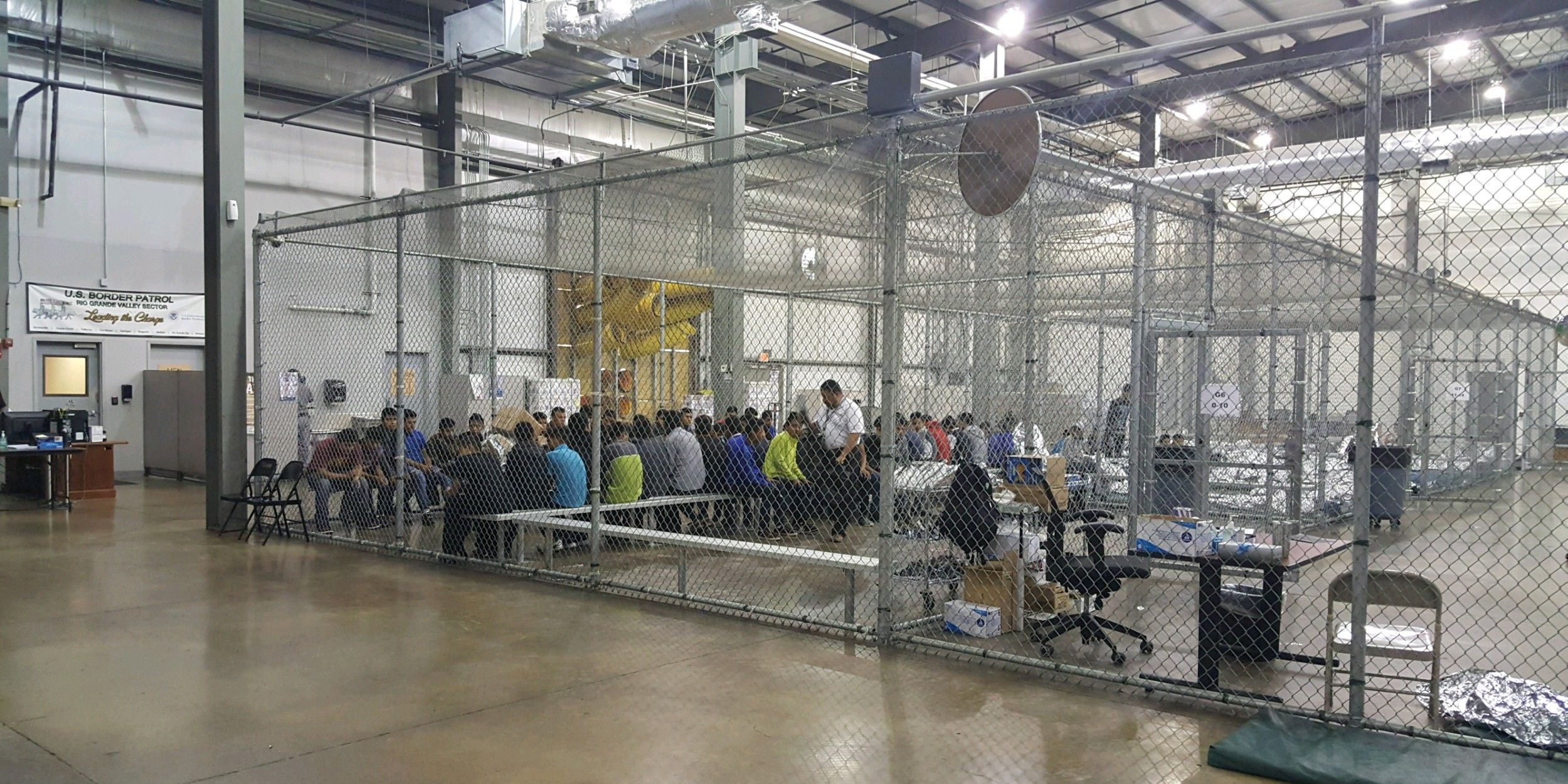 cages at border