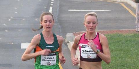 Molly Huddle and Shalane Flanagan at the 2013 US 12K Championships