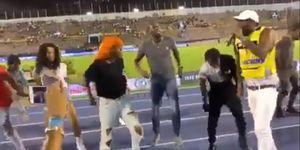 usain bolt, reggae, campeonato nacional de atletismo de Kingston, Jamaica