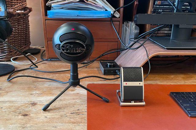 black snowball mic and tula mic