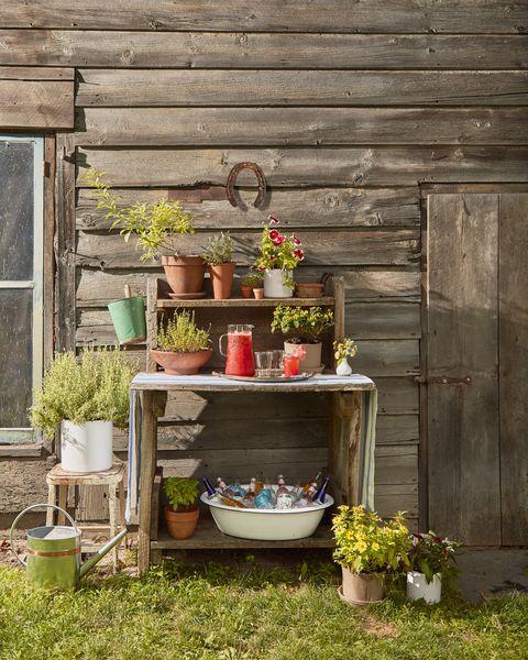 gardening bench bar