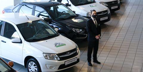 renovated piter lada car dealership opens in st petersburg