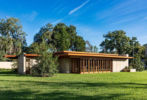 Usonian house designed by Frank Loyd Wright for Florida...