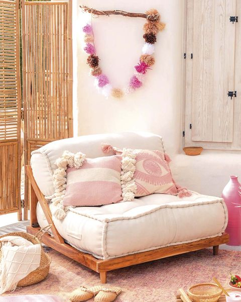 muebles de jardín sillón estilo boho