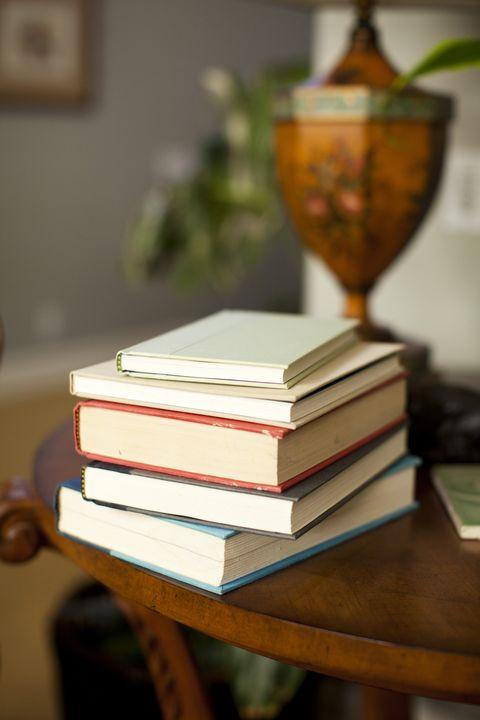 USA, Utah, Salt Lake, Stack of books on table