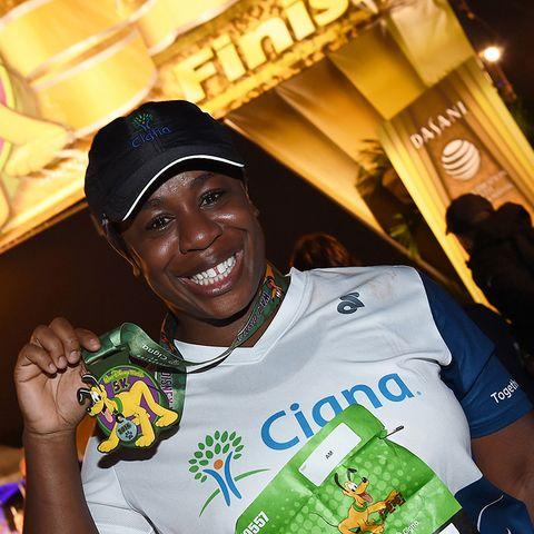 Uzo Abuda is a Celebrity Marathoner