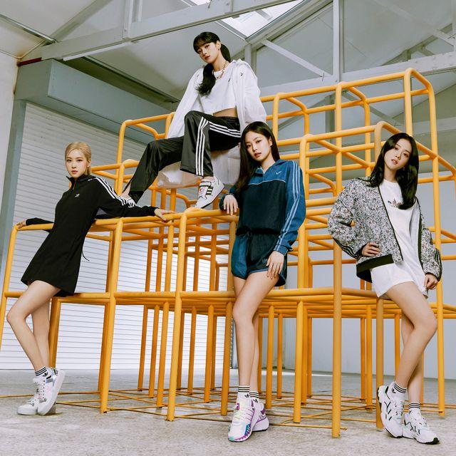 adidas, adidas originals, blackpink, jennie, jisoo, lisa, rose, 穿搭, 運動