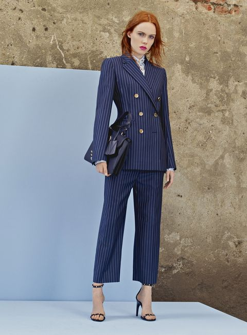 Clothing, Blue, Pantsuit, Suit, Fashion, Outerwear, Fashion model, Street fashion, Formal wear, Denim,