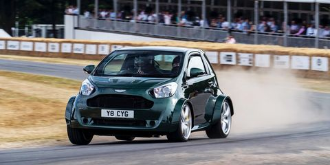 The Aston Martin Cygnet V8 Drives As Silly As It Looks