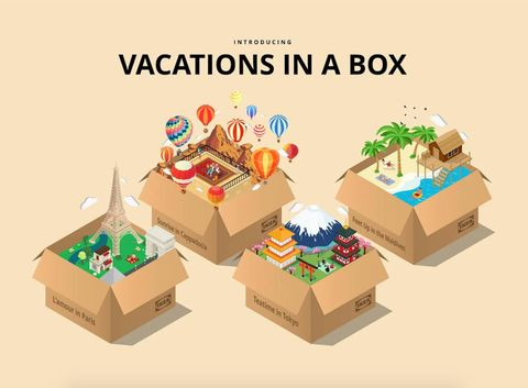 'vacations in a box' de ikea