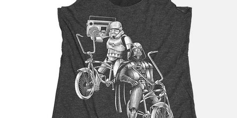 Darth Vader and Stormtrooper Low-Rider Boombox Tank Top BlackCoffeeAndTees