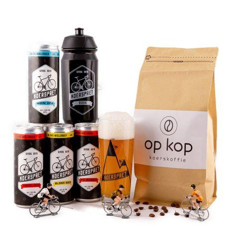 koerspret pakket  speciaal bier  op kop koerskoffie  wielerbier