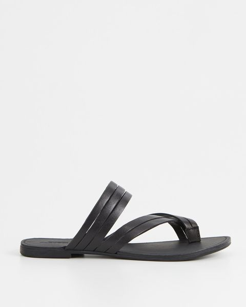 vagabond slipper zwart bandjes