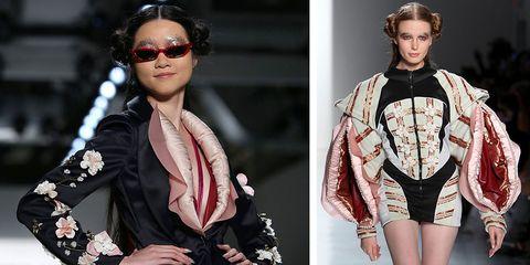 Fashion model, Eyewear, Fashion, Clothing, Beauty, Hairstyle, Sunglasses, Runway, Lip, Model,