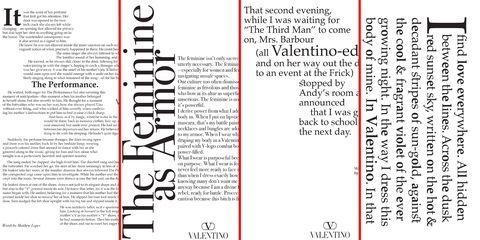 valentino writer campaign