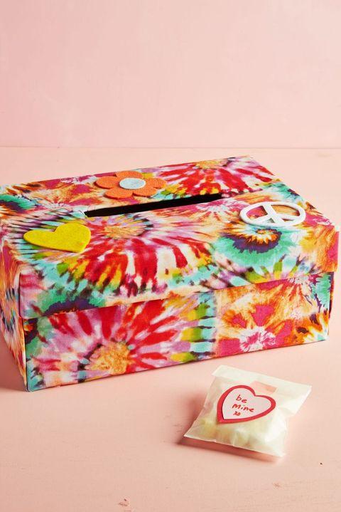 tie dye valentine box