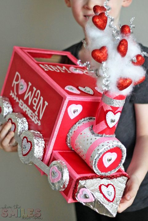 train valentine box