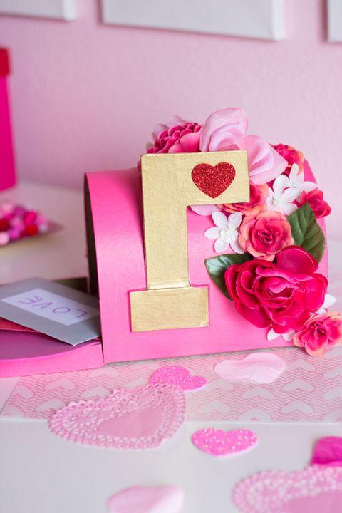 valentine boxes - floral mailbox