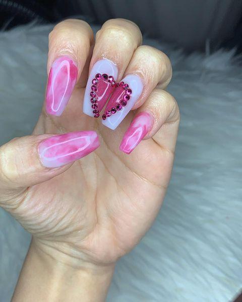valentine nail designs heart