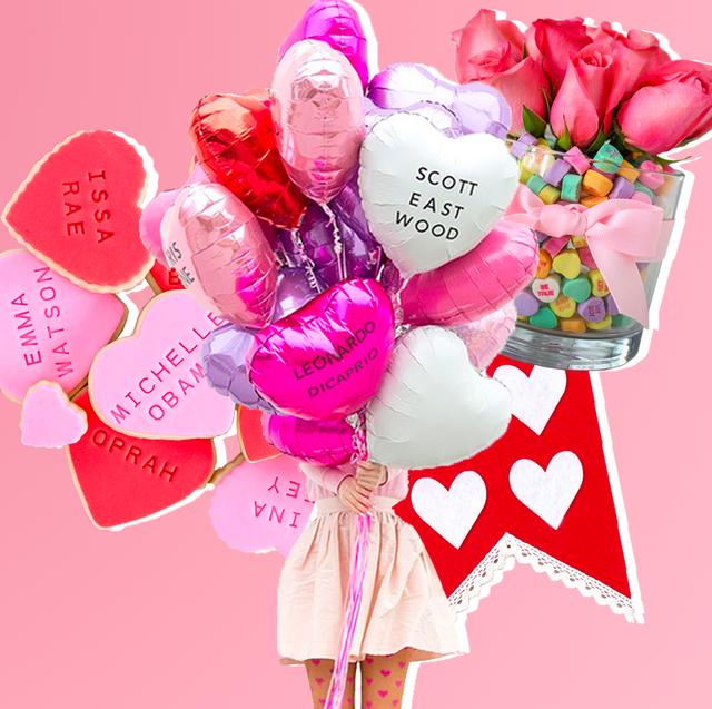 Pink, Cut flowers, Flower, Valentine's day, Bouquet, Heart, Plant, Petal,