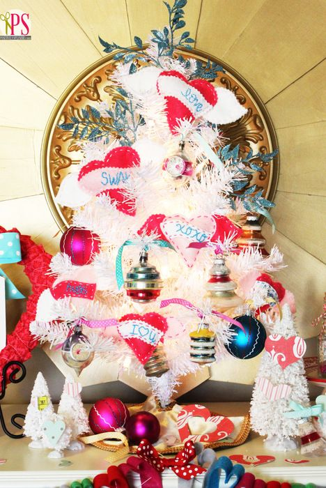 valentine tree diy heart ornaments
