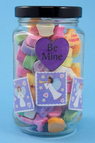 Valentine's Day Crafts for Kids - Valentine's Day Candy Jar