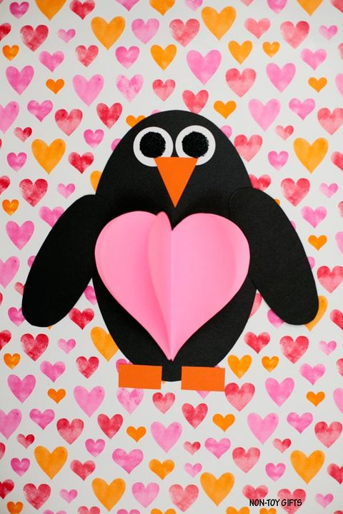 valentines crafts kids penguin