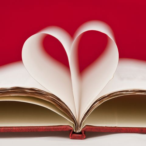 long distance valentines day   pages of book in shape of heart