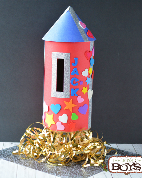 valentines day boxes rocketship