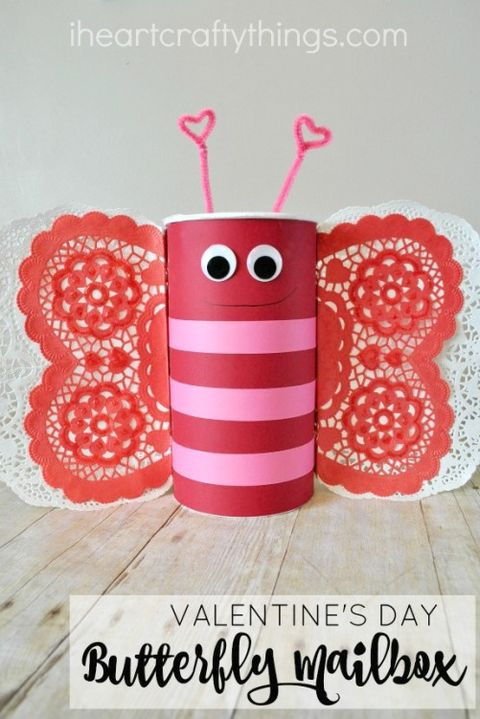 diy valentine's day boxes butterfly