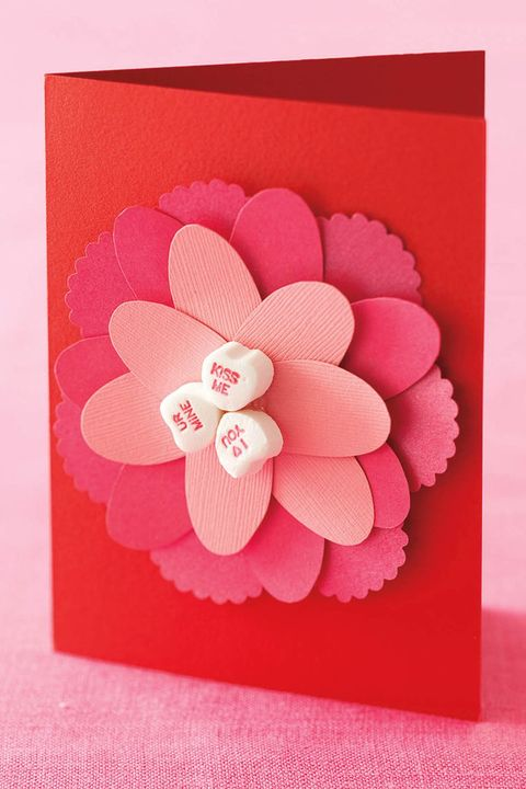 valentines day card idea flower card