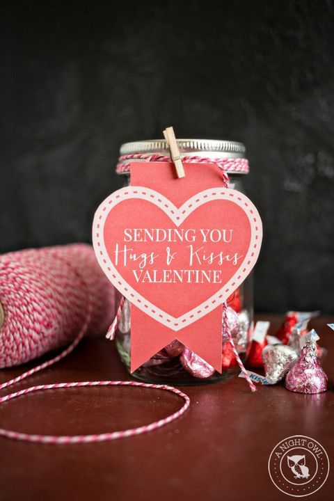 valentines day cards diy - hugs and kisses